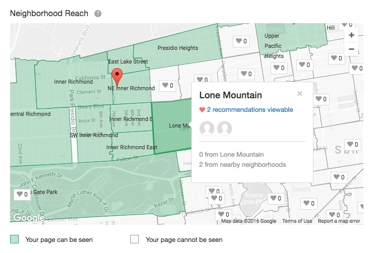 Example of Nextdoor community map
