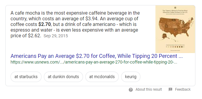 featured snippet with image example