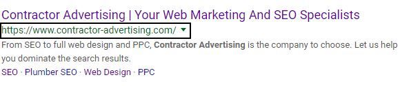 optimized URL example image with URL boxed in on SERP