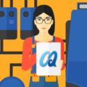 DIY furnace maintenance banner image featuring cartoon woman maintaining her furnace