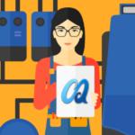 DIY furnace maintenance banner image featuring cartoon woman maintaining her furnace